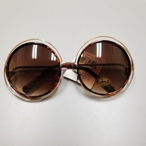 Accessories - Accent Ring Round Fashion Sunglasses